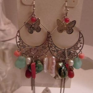 Nwts Designer Butterfly Earrings. M2-5 bundled onl